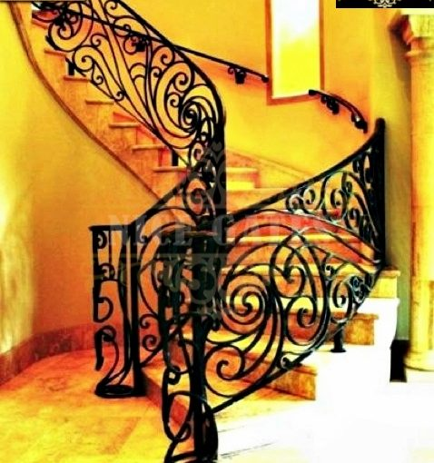 cầu thang sắt đặc