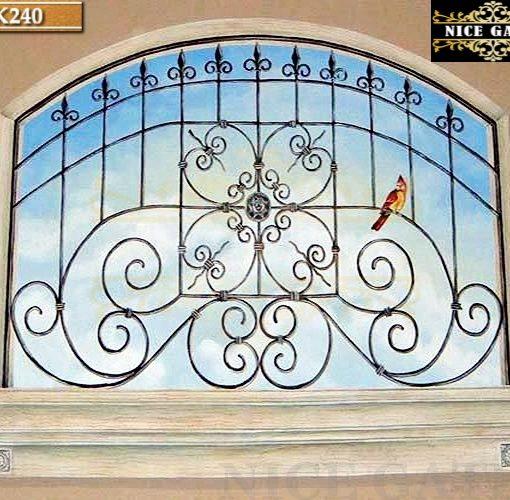 Khung cửa sổ sắt la uốn- SK240
