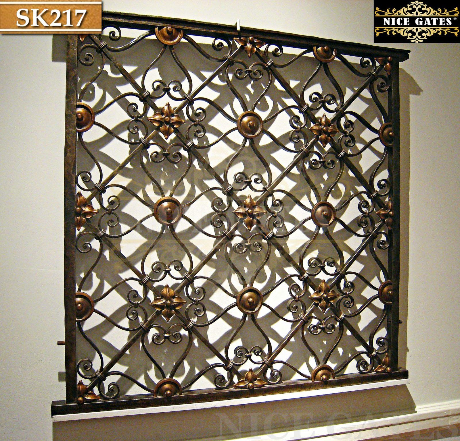 Khung sắt đặc trang trí cửa sổ- SK217