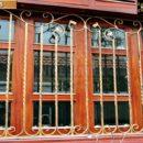 Khung sắt trang trí trong cửa gỗ -SK215