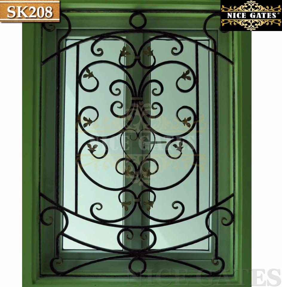 Khung sắt trang trí bên trong cửa sổ - SK208