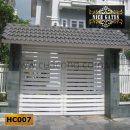 Cửa cổng sắt hộp HC007