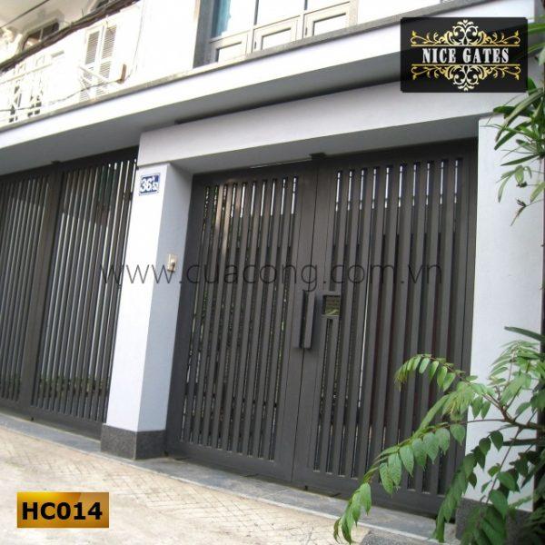 Cửa cổng sắt hộp HC014