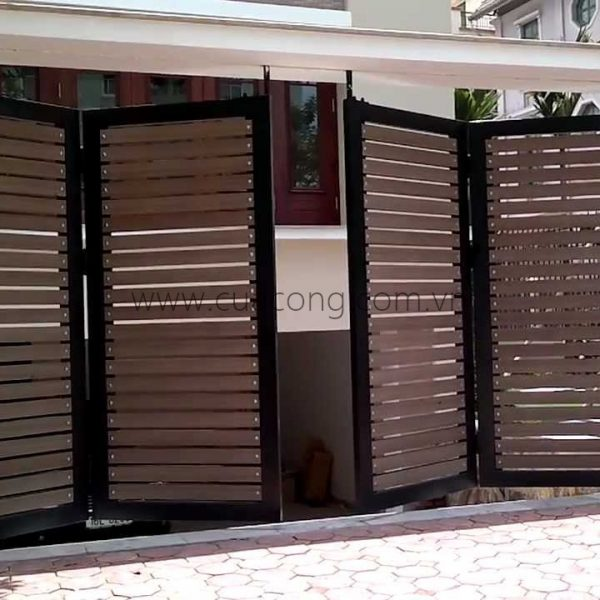 Cửa cổng sắt hộp HC016