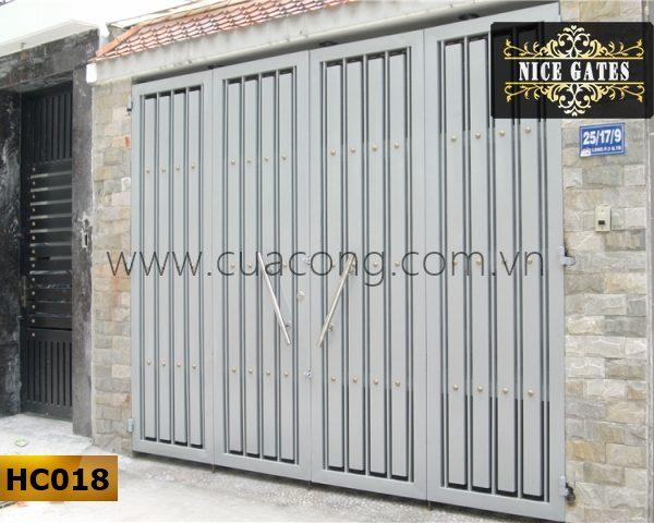 Cửa cổng sắt hộp HC018