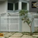 Cửa cổng sắt hộp HC020