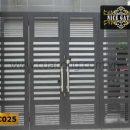 Cửa cổng sắt hộp HC025
