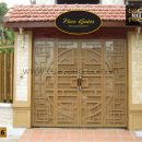 Cửa cổng sắt hộp HC026