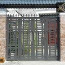 Cửa cổng sắt hộp HC030