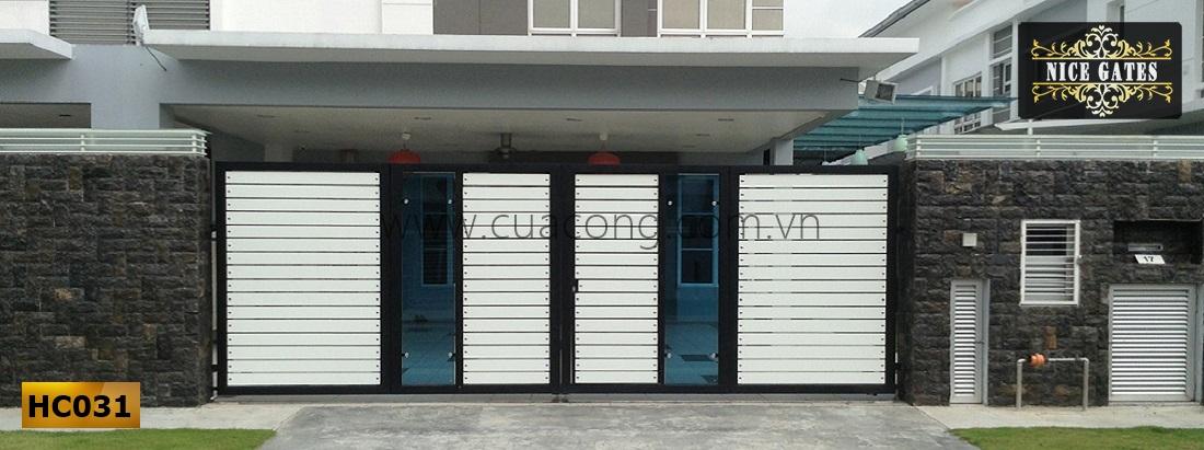 Cửa cổng sắt hộp HC031
