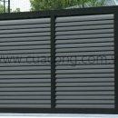 Cửa cổng sắt hộp HC032