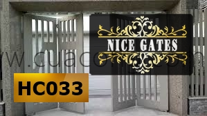 Cửa cổng sắt hộp HC033