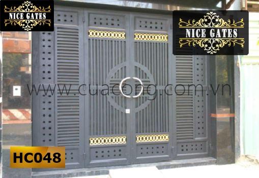 Cổng sắt hợp cao cấp HC048