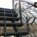 Cầu thang sắt hộp HT013