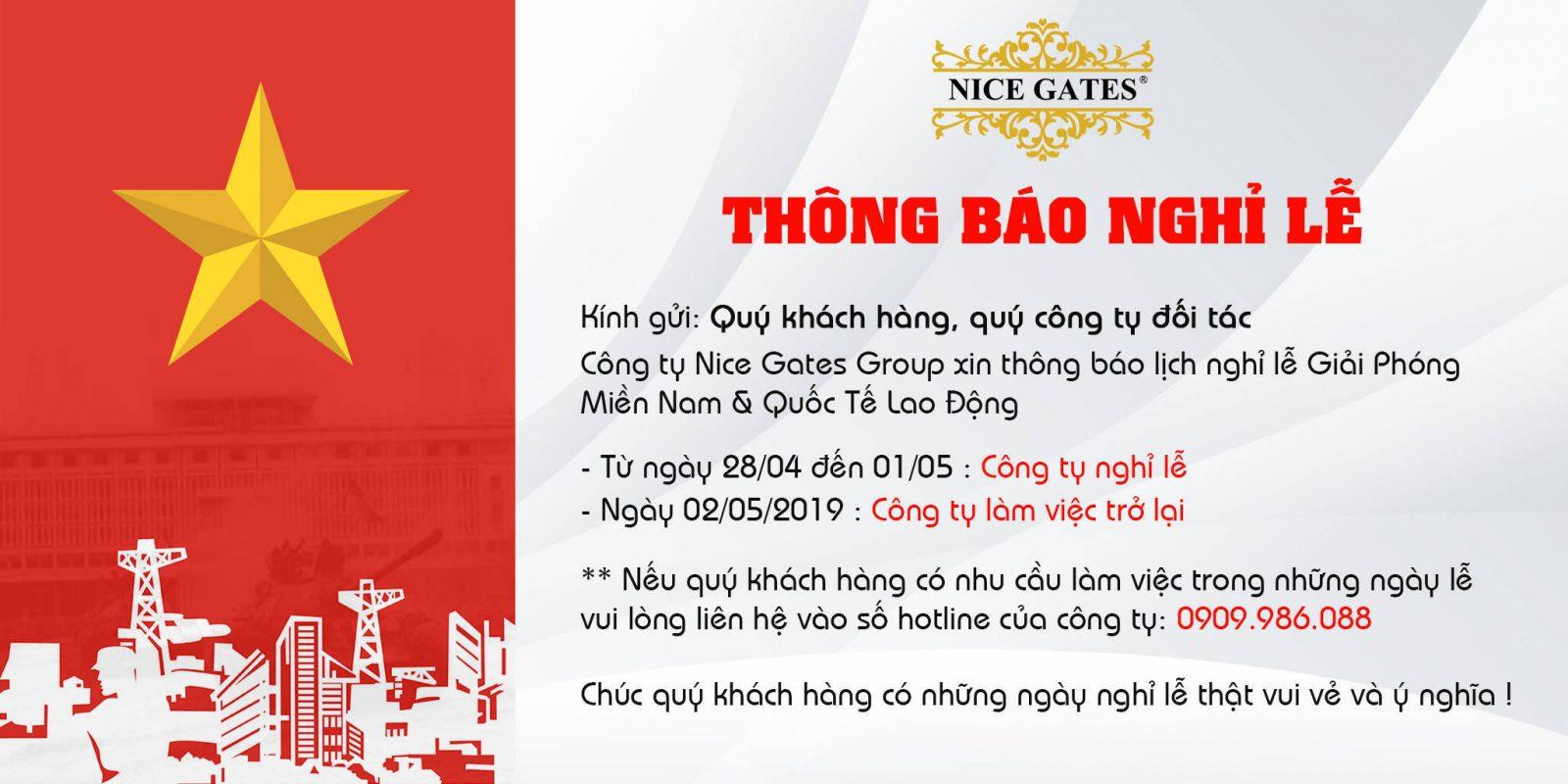 thong bao nghi le 30 4 2019
