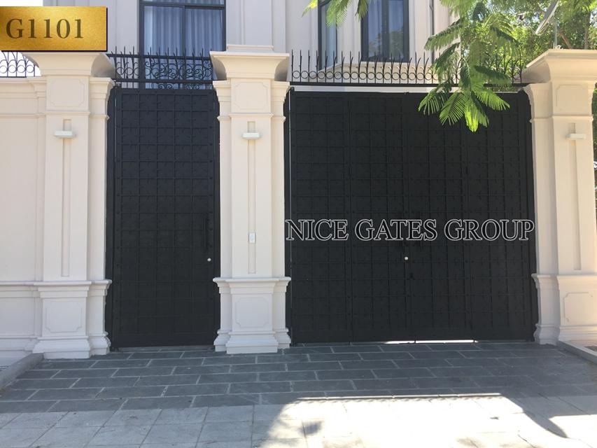 Mẫu cổng cắt CNC đẹp cho nhà phố - G1101
