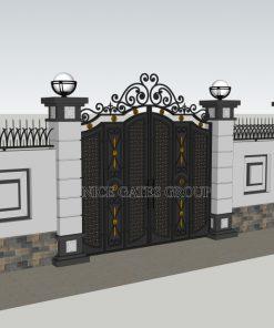 Mẫu cổng cnc đẹp sang trọng cho biệt thự