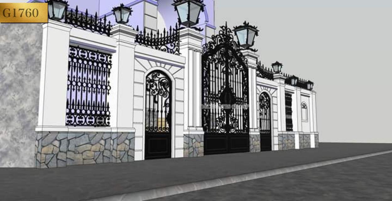 Mẫu cổng cnc đẹp sang trọng cho biệt thự - G1760