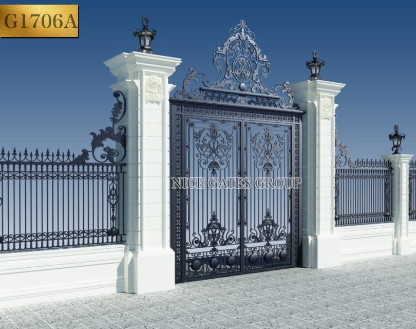 thiết kế cửa cổng sắt cắt cnc