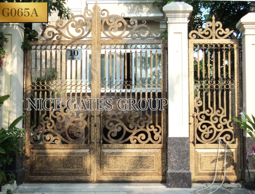 thi công cổng biệt thự