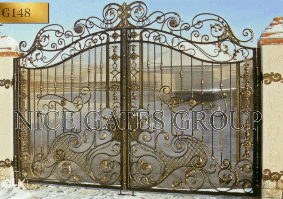 Mẫu cổng sắt đẹp 2 cánh