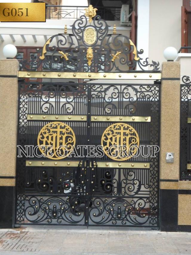 Mẫu cổng cắt CNC sang trọng cho biệt thự