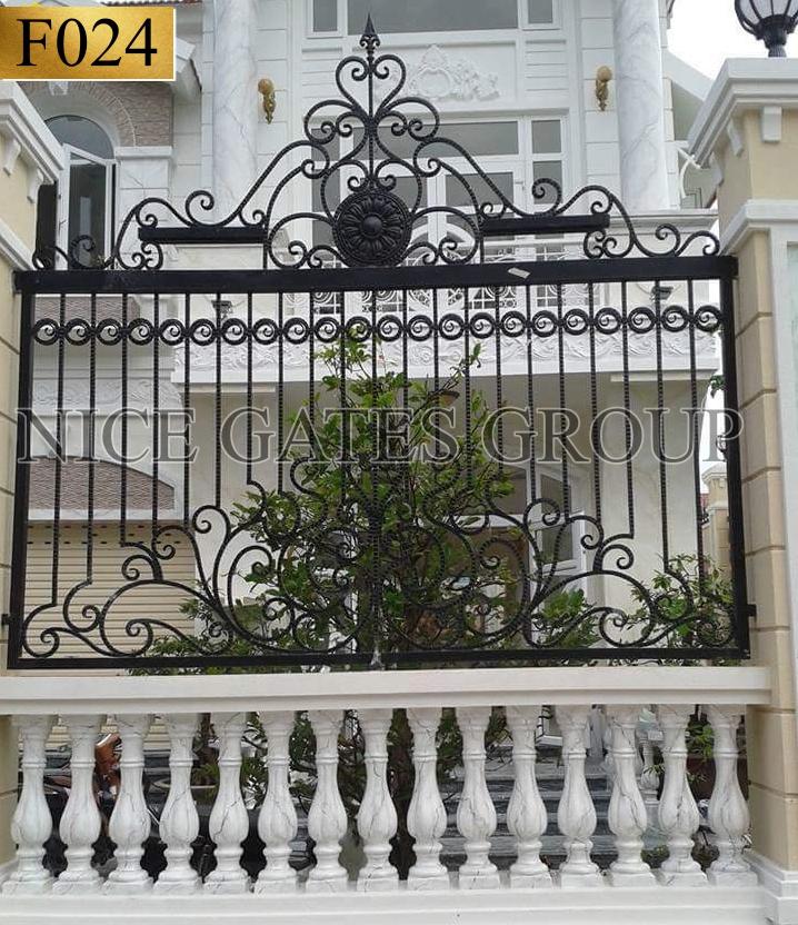 mẫu hàng rào sắt mỹ thuật đẹp